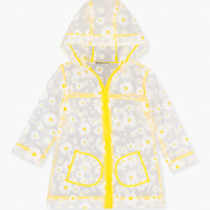 See-through Raincoat With All-over Daisy Print Losan