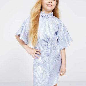 Φόρεμα σεμιζιέ ριγέ Guess