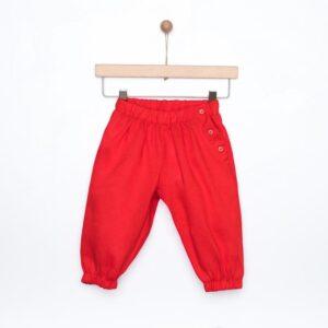 Παντελόνι κόκκινο λινό Yell-oh!