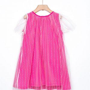 Φόρεμα με τούλι φούξια Yell-oh!