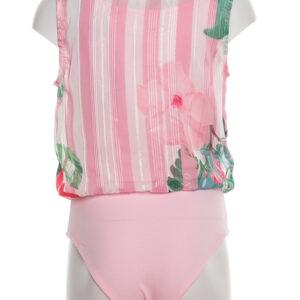 446×669 Body Senza Maniche Bambina Guess Fantasia Floreale Rosa J02h08 Wcv30 P00h (1)