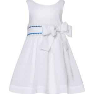 Φόρεμα λευκό Broderie Marasil