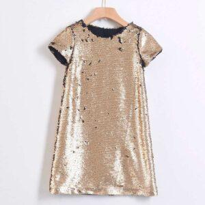 Φόρεμα παγιέτες χρυσό YELL-OH