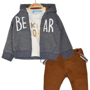SET 3PCS παντελόνι,μπλούζα,ζακέτα Energiers