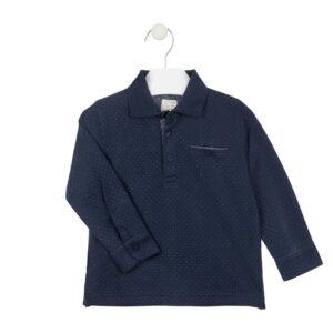 Μπλούζα Polo μπλε πουά Losan