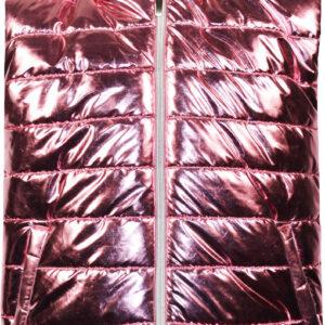 Μπουφάν αμάνικο μεταλιζέ ροζ Energiers