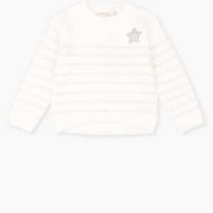 Πουλόβερ λευκό με ασημί λεπτομέρειες Losan