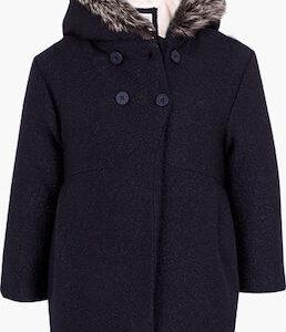 Παλτό μάλλινο σκούρο μπλε Losan