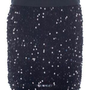 Φούστα μαύρη με παγέτα Marasil