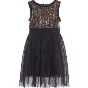 Φόρεμα με παγιέτες μαύρο-χρυσό Marasil
