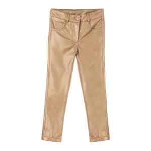 Παντελόνι δερματίνη χρυσό Marasil