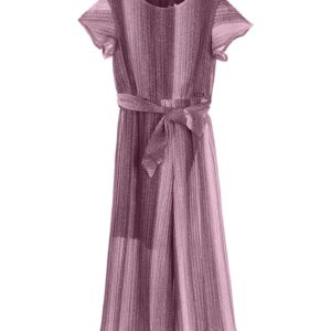 Jumpsuit Old Pink-purple With Silver Details Marasil