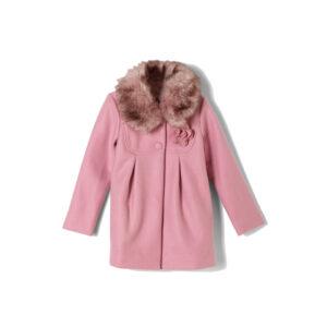 Παλτό ροζ με γούνα S.Oliver