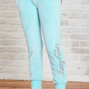 Pants Velour Angel Blue Juicy