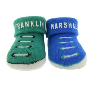 Set 2pcs Booties Blue/green Franklin Marshall