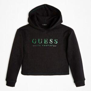 Μπλούζα φούτερ Hoodie Black Guess