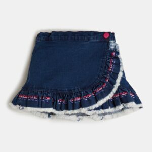 Φούστα Ruffles Denim Guess