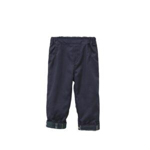 Παντελόνι μπλέ με καρό λεπτομέρειες
