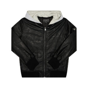 Μπουφάν Hoodie Faux Leather Guess