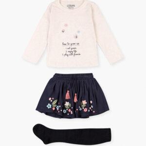 Set 3pcs Skirt-t-shirt-tights Losan