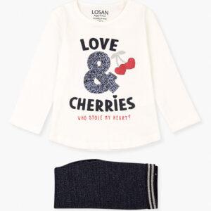 Set 2pcs T-Shirt M/M And Glitter Leggings Losan