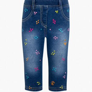 Denim Jeggings With Colourful Details Losan