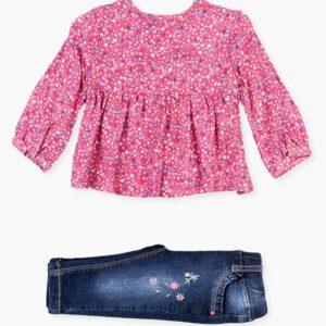 Set Jeggings & Floral Blouse Losan
