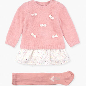Dress Fluffy With Tights Losan