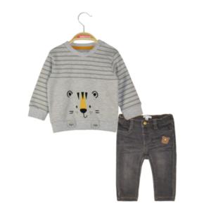 Set 2pcs μπλούζα-denim Grey Energiers