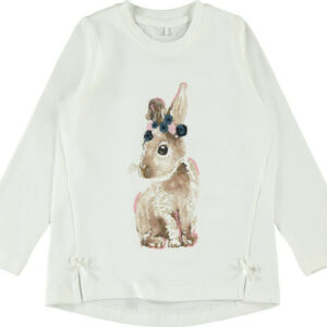 Μπλούζα Μ/Μ Bunny Print Name It