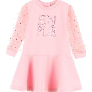 Φόρεμα ροζ με στρας Marasil