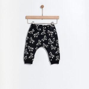 Παντελόνι Cotton Black Print Unicorn Yell-oh