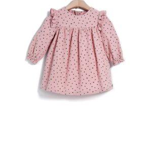 Φόρεμα βολάν Dusty Pink Print Stars Yell-oh
