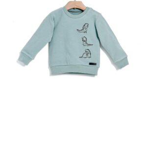 Μπλούζα φούτερ Mint με κέντημα Yell-oh