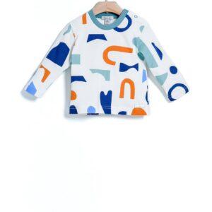 Μπλούζα φούτερ Abstract Print Yell-oh