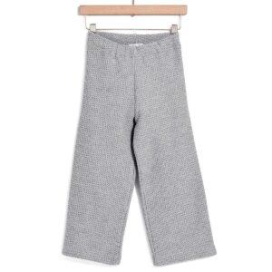 Παντελόνι πλεκτό γκρι Yell-oh