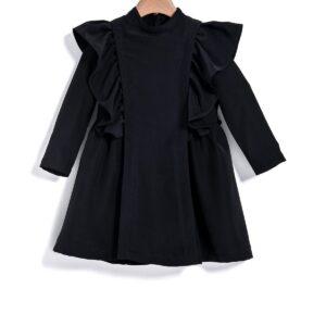 Φόρεμα βολάν μαύρο Yell-oh