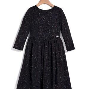 Φόρεμα μακρύ ανθρακί Glitter Yell-oh