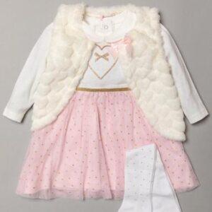 Set 3pcs Dress-fur-tights Rock A Bye Baby