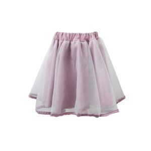 Skirt Monochrome Organza Layered Two In A Castle