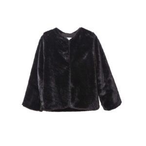 Παλτό Faux Fur Black Two In A Castle
