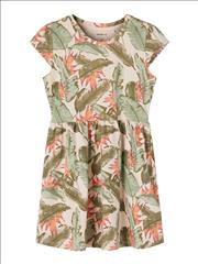 DRESS COTTON TROPICAL PRINT GIRL NAME IT