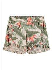 SHORT COTTON TROPICAL PRINT NAME IT GIRL