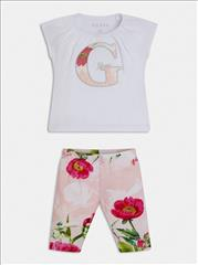 SET T-SHIRT-LEGGING FLORAL BABY GIRL GUESS