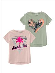 T-SHIRT K/M 2PACK SUMMER DREAMS GIRL NAME IT