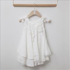 DRESS WHITE MANOLIA LACE DETAILS BEBE TWO IN A CASTLE
