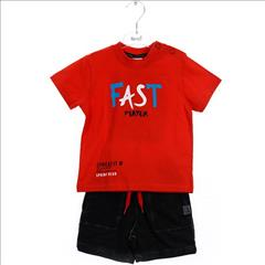 SET T-SHIRT FAST-VERMOUDA COTTON 2CLRS BABY BOY SPRINT