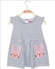 DRESS COTTON STRIPPED BUNNY BABY GIRL ENERGIERS