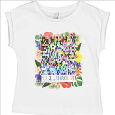 T-SHIRT K/M TROPICAL REVERSIBLE SEQUINS GIRL TRYBEYOND