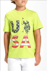 T-SHIRT BEIGE LOGO U.S POLO BOY
